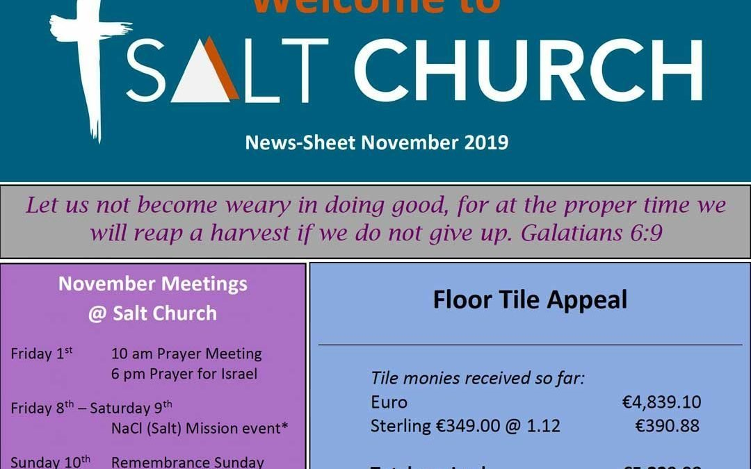 Salt Church Monthly News Sheet Nov 2019
