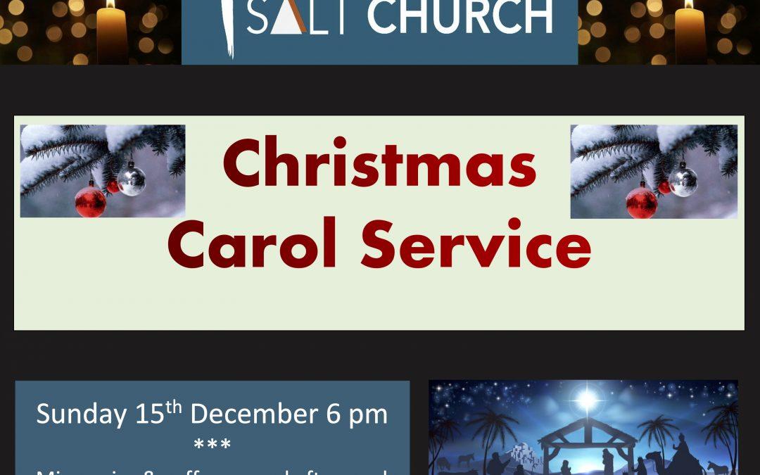 Carol Service 6pm 15th Dec 2019